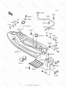 Kawasaki Jet Ski 1993 Oem Parts Diagram For Hull