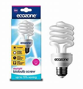 Energiesparlampen E27 100w : ecozone biobulb energiesparlampe tageslicht 25 w e27 schraubfassung ~ Pilothousefishingboats.com Haus und Dekorationen