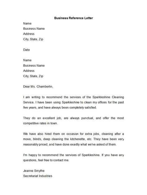 awesome business reference letters template archive