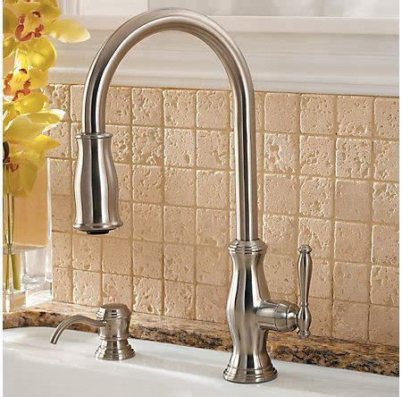 Stainless Steel Hanover 1 Handle, Pull Down Kitchen Faucet