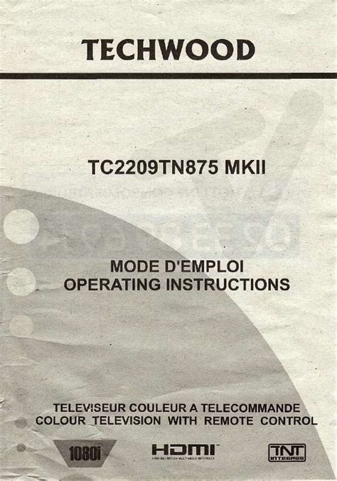 mode d emploi si鑒e auto trottine mode d emploi techwood tc2209tn875 mkii tv trouver une