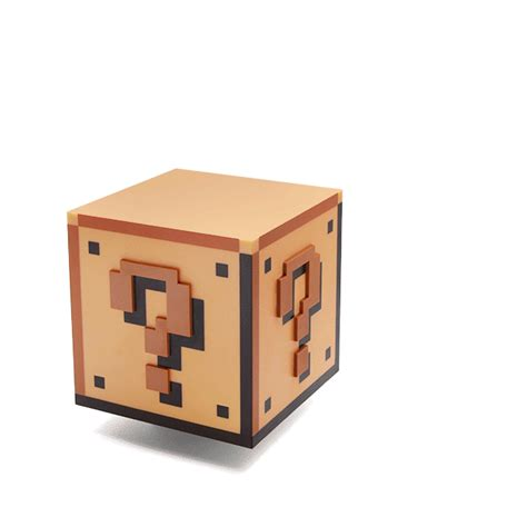 Mario Mystery Box Lamp by Super Mario Bros Question Block Lamp Thinkgeek