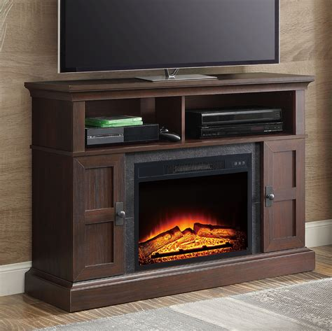 tv stand media entertainment wood console  electric