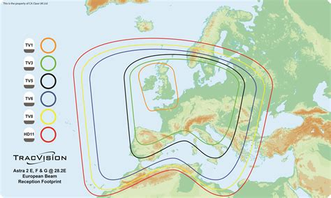 Latest Satellite Coverage Footprints for UK Channels ...