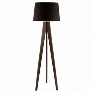 Buy tesco lighting tripod wooden floor lamp dark wood for Tesco tripod wooden floor lamp dark wood black shade
