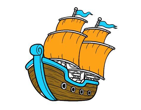 Dibujo Barco De Vela by Dibujo De Barco De Vela Pintado Por En Dibujos Net El D 237 A
