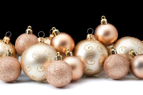 photo of assorted gold baubles free christmas images