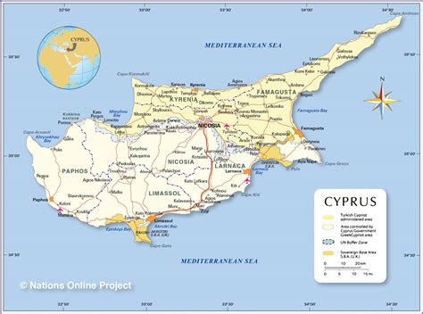 political map  cyprus