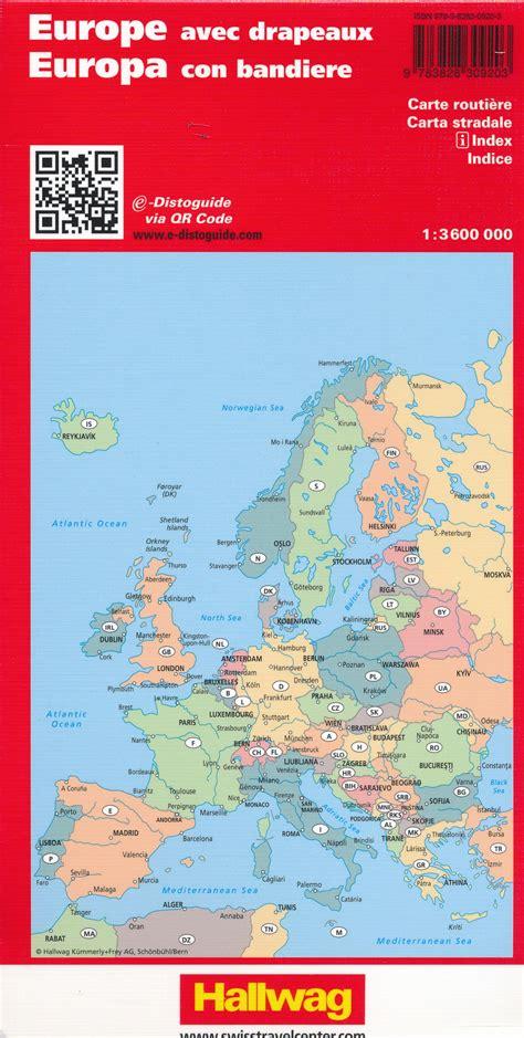 Wegenkaart - landkaart Europa - Europe | Hallwag ...