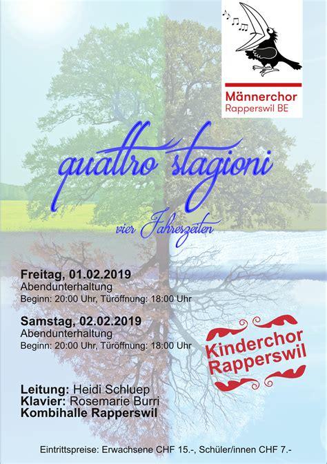 Sitemap  Männerchor Rapperswil Be