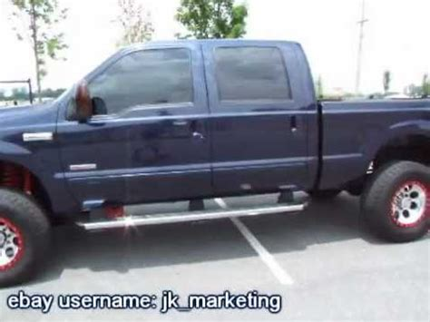 jacked   ford  diesel crew cab fx youtube