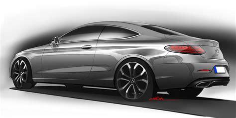 mercedes benz  class coupe design sketch car body design