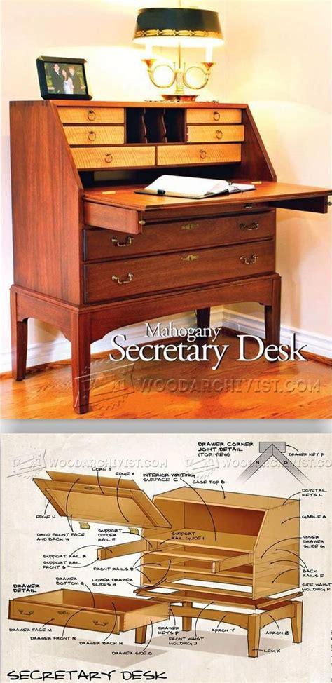 secretary desk plans furniture plans  projects