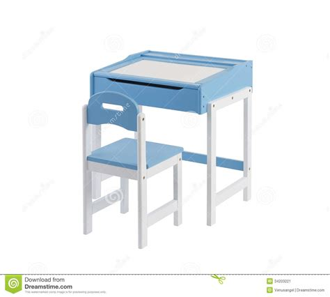 student desk with whiteboard top and chair stock image