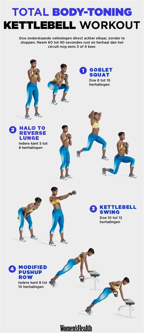 kettlebell workout body total oefeningen workouts toning fitness training met circuit een doen bell health kettlebells challenge womenshealthmag exercises kettle