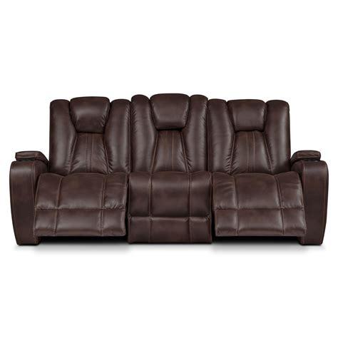 pulsar dual power reclining sofa brown  city