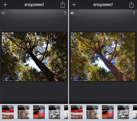 snapseed  ios updated   hdr scape filter