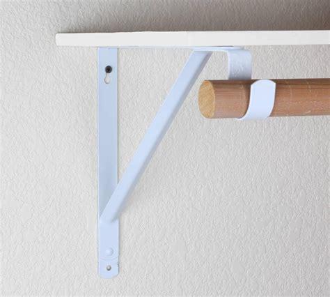 closet hanging rod wall hanging closet rod