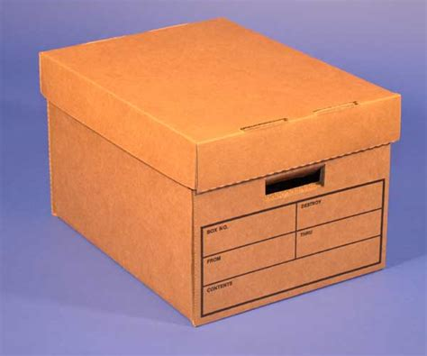 Heavy Duty Brown File Box With