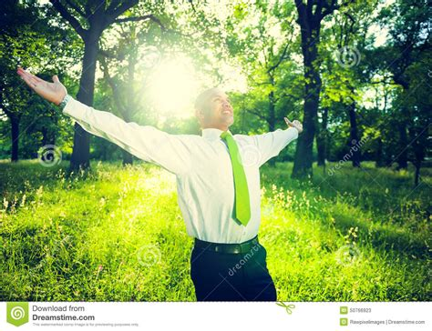 Business Relaxation Green Fresh Success Concept Stock