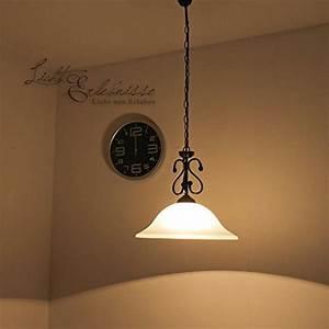 Deckenlampe Für Wohnzimmer : mattschwarze h ngeleuchte mit alabasterglas 1 4 754 deckenlampe landhausstil pendelleuchte ~ Frokenaadalensverden.com Haus und Dekorationen