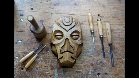 carving  dragon priest mask   walnut youtube
