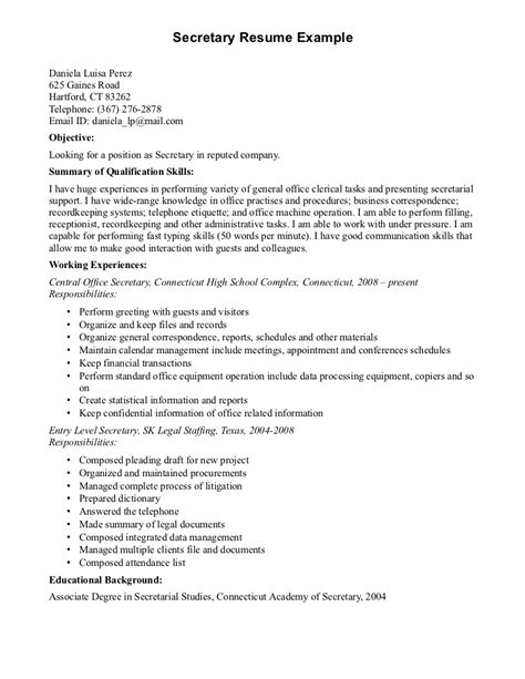 clerical resume sles 28 images clerical assistant