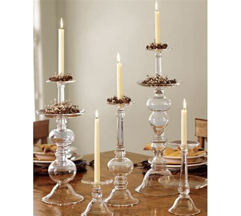 pottery barn candle holders glass candleholders pottery barn