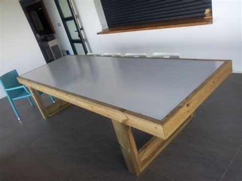 termine fabrication table en bois peint polycarbonate pour terrasse