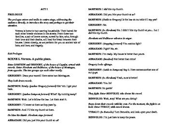 romeo and juliet play script modern abridged shakespeare for classes romeo and juliet
