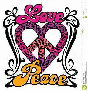 Love And Peace : love peace heart stock vector illustration of design ~ A.2002-acura-tl-radio.info Haus und Dekorationen