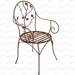 Chaise De Jardin En Fer : chaise fleurs en fer forg mobilier de jardin ~ Teatrodelosmanantiales.com Idées de Décoration