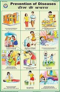 Personal Cleanliness Chart Multicolor Laminated Paper Prevention Of Diseases For