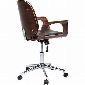 Chaise De Bureau Bois : chaise de bureau contemporaine noire patron kare design ~ Teatrodelosmanantiales.com Idées de Décoration