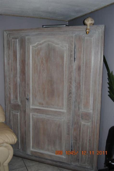 cuisine ancienne repeinte meuble de coin en chêne restauré cérusé blanc naturel