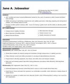 Phlebotomist Resume Sample Free  Resume Downloads