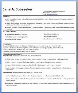 Phlebotomist resume sample free resume downloads for Phlebotomy resume template free
