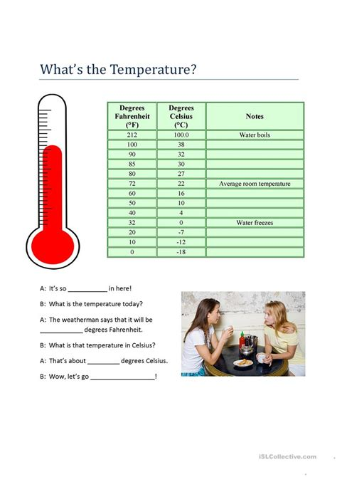 What's The Temperature? Worksheet  Free Esl Printable
