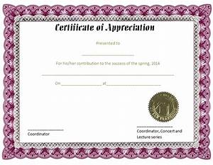 Certificate of appreciation template purple feather for Free certificate of appreciation template downloads