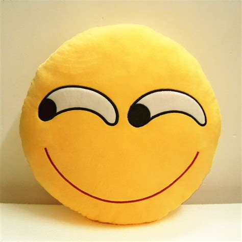 Novelty Sleeping Ultra Soft Plush Emoji Pillow Cusion For