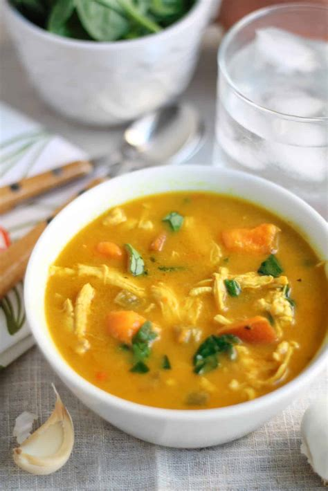 creamy coconut curry chicken vegetable soup gluten