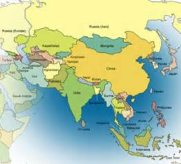 World Map Asia Countries