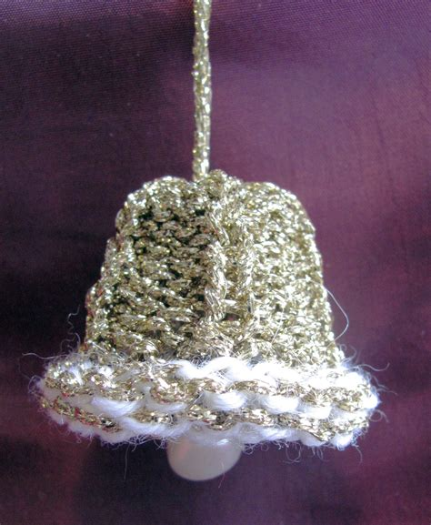 knitted bell  christmas tree knit crochet christmas