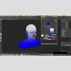 Creating A Gradient Texture In Maya With Mel Script Youtube