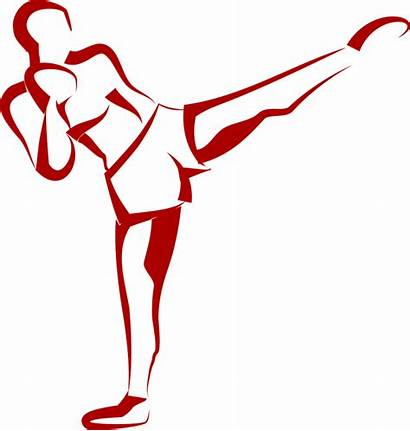 Boxing Kick Kickboxing Fitness Clipart Boxer Vector