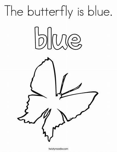 Coloring Butterfly Cursive Twistynoodle Noodle Trace Word