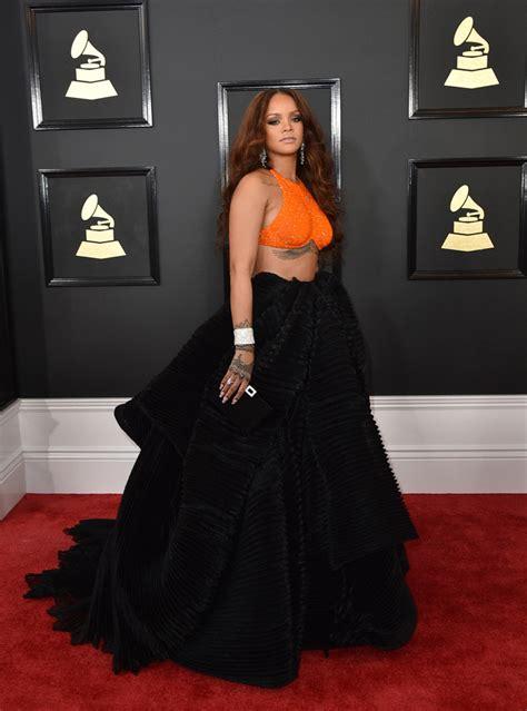 2017 Red Rihanna Dress Grammys