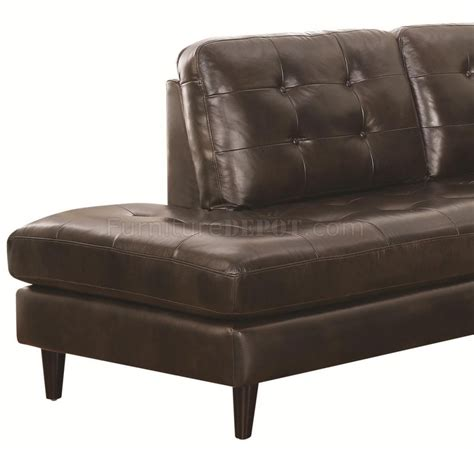 coaster leather sectional sofa 501225 haskin sectional sofa chocolate leather match by