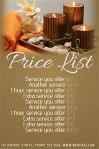 customizable design templates for spa postermywall With massage price list template