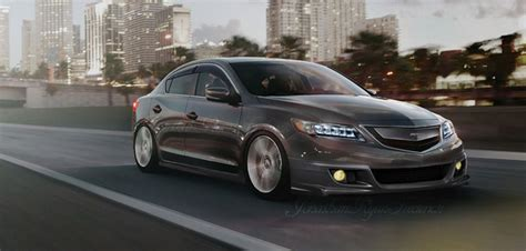 rendered acura ilx with eye headlights and mods acura connected